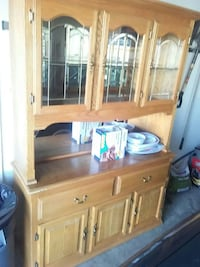 brown wooden TV hutch with flat screen television Martinsburg, 25404