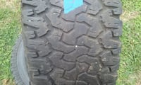three 315 70r 17 bf Goodrich tires and rims Livingston