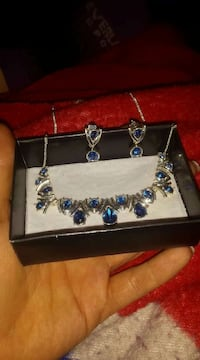 Sapphire necklace ring and pendant.