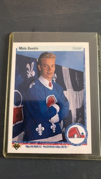 Hockey card. Mats Sundin 1990 Upper Deck Hockey
