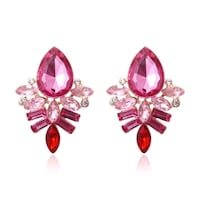 pair of silver-colored earrings with red gemstones Falls Church, 22041