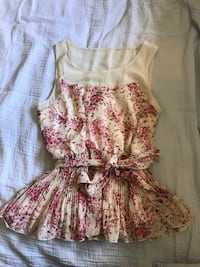 women's white and pink floral top  Ojai, 93023