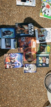 Star Wars books and card collection