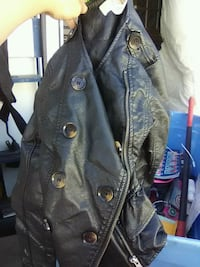black leather button-up jacket Grand Junction, 81504