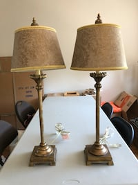 2 lamps (31 in high; shade 8 inches in diameter at top)