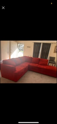 Red sectional