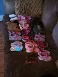 Little girl shoes sizes 5 all the way up to 12