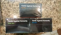 The Cards Against Humanity, Red, Green, Blue packs Cambridge, N1R 7L5