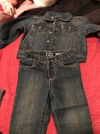 Jean pants and jacket 18-24 months