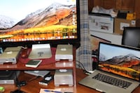 2015 MacBook Pro 15 inch with retina display and 27 inch Apple thunderbolt display combo