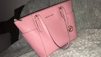 pink Michael Kors leather tote bag Rogers