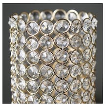 Gold and Crystal Pillar Candle Votives
