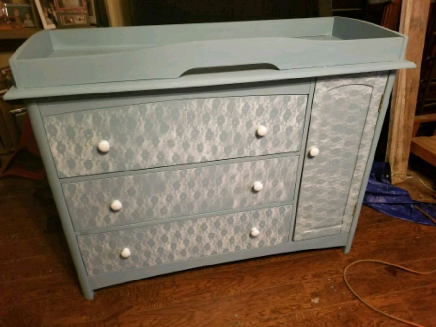 Baby changing dresser Drawer Dresser Letgo Used Baby Changing Dresser For Sale In Red Oak Letgo
