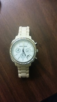 Michael Kors chronograph watch with silver link bracelet Columbus