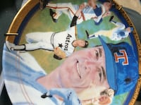 Nolan Ryan commemorative plate .....gold plated ! Vancouver
