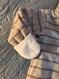 gray and white knit cap Lincolnia, 22312