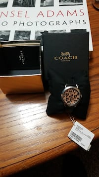 Coach  Leopard woman's watch