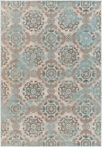 """Taupe/ Beige Area Rug 7'10"""" by 10'6"""""""