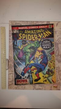 Canvas Wrapped Marvel Comics Book Spider-Man Hulk Issue Cover #120 Graphic Canvas Art Wrapped Canvas Oshawa