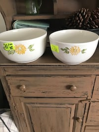 Old white and floral ceramic bowls Eau Claire, 54703