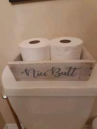 Handmade reclaimed wood toilet paper holder