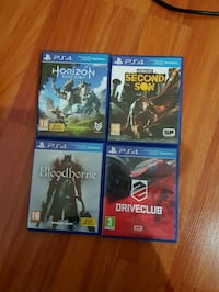 Horizon,Bloodbourne,Drive Club, Second Son PS4 OYUNLARI