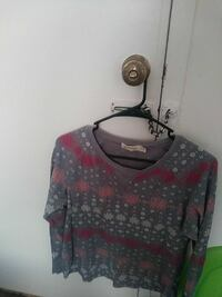 gray, red, and white fair isle crew-neck sweater Erie, 16504