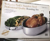 Wolfgang Pucks Roasting  Pan Stainless Steel 3 PC. Set Never Been Used Nashville, 37080