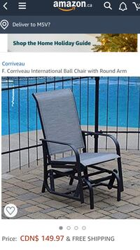 International Ball Chair with Round Arm