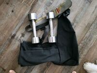 Two Bollinger 5 lbs hand weights n cross bag