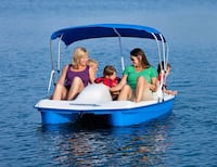 White and blue electric paddle boat Wasaga Beach, L9Z 2H9