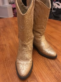 Nordstrom sparkly gold cowgirl boots