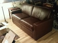 brown leather 2-seat sofa with pull out queen air  Long Beach, 90815