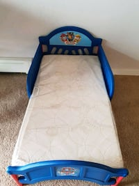 Mattress + bed blue frame Richardson, S0G 4G0