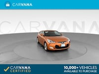 2016 *Hyundai* *Veloster* Coupe 3D coupe Orange Downey