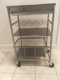 Stainless Steel kitchen cart with wine rack Suitland, 20746