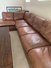 Arizona leather sectional sofa Newport Beach