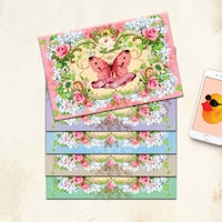 Folded Stationery with vellum envelopes Vaughan