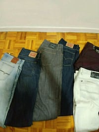 Assortment of GUESS, BUFFALO, LEVI jeans Toronto, M9C 4W4
