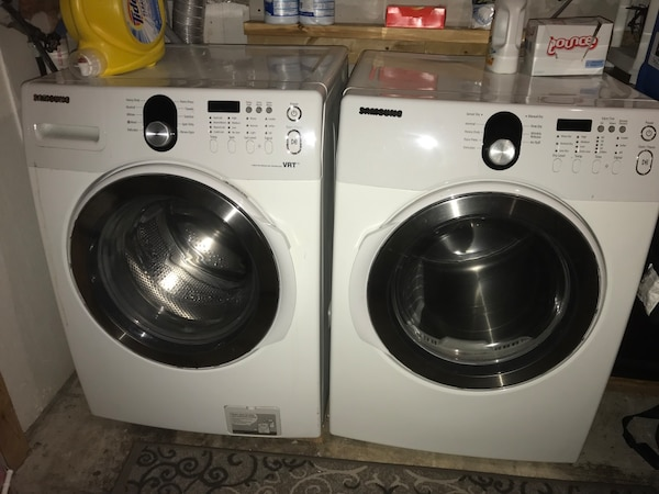 Samsung Front load washer and dryer.