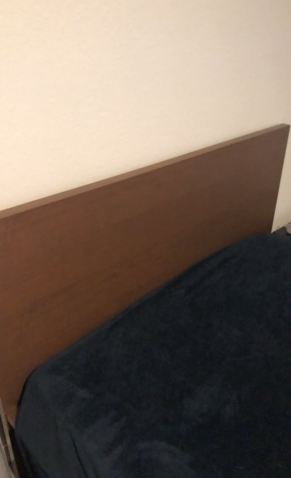 Full size Brown Wood Bed Frame  3b421fdc-279b-45d2-83e5-848344ccf517