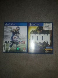 2 PS4 Games (Madden 15 & DOOM) Columbus, 31904