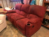 red suede recliner sofa chair Marietta, 30062