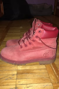 All red Timberlands size 5.5 Toronto, M9P 3R1