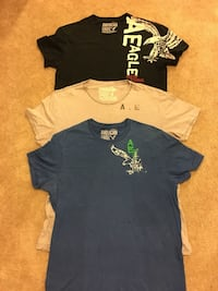 three assorted-color crew-neck t-shirts Hagerstown, 21740