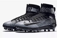 NIKE FORCE LUNARBEAST ELITE TD MEN'S FOOTBALL CLEATS BLACK GRAY  [TL_HIDDEN]  SZ 16.  Bangor, 04401