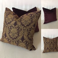 Two purple/gold throw pillows Concord, 28025