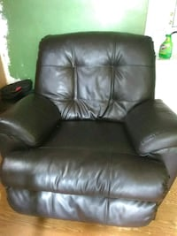 black leather recliner sofa chair 935 mi