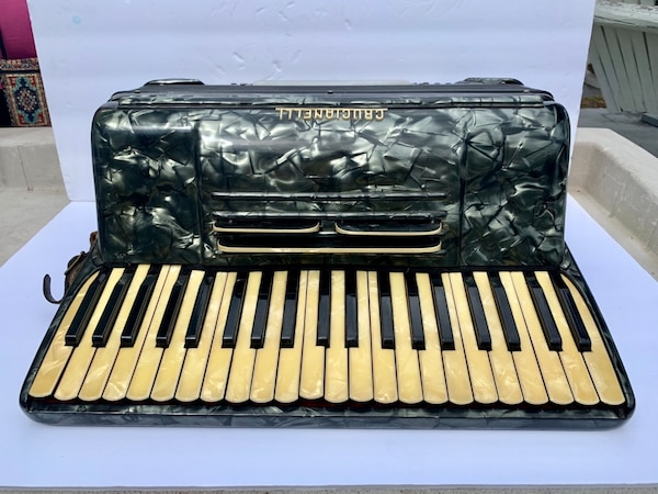CRUCIANELLI/PANCORDION Antique Mother-Pearl Italian Accordion