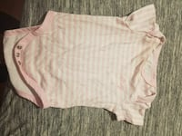baby's white and pink striped onesie McSherrystown, 17344